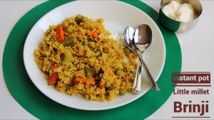 instant pot little millet brinji recipe