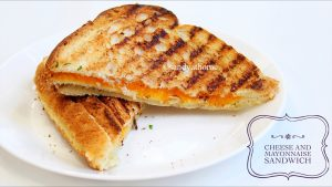 mayonnaise and cheese sandwich
