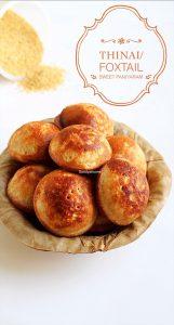 thinai sweet paniyaram recipe