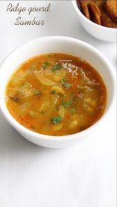 ridge gourd sambar