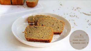 eggless bajra banana cake recipe