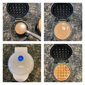 eggless chocolate waffles