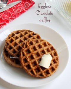 eggless chocolate waffles recipe