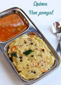 quinoa pongal recipe