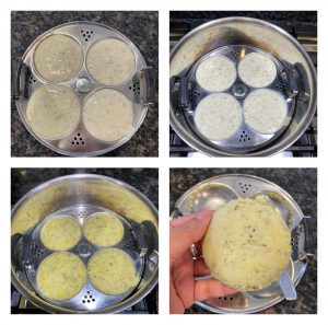 sprouted moong idli