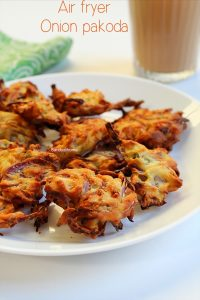 air fryer onion pakoda