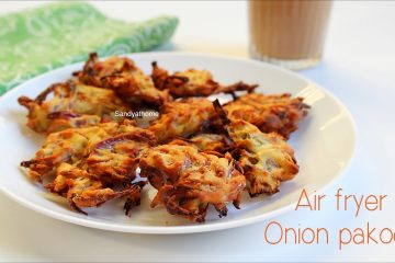air fryer onion pakoda recipe