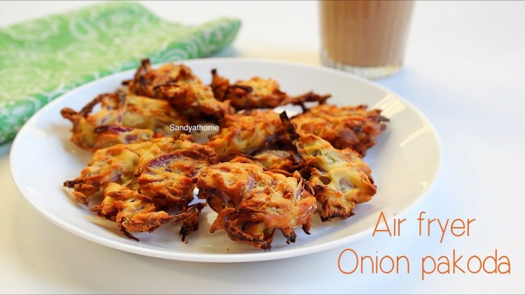 air fryer onion pakoda recipe