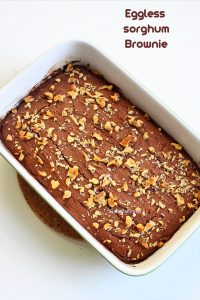 eggless jowar brownie
