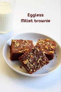 eggless millet brownie