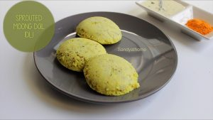 sprouted moong idli recipe