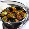 white brinjal kura recipe