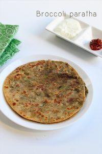 how to make broccoli paratha recipe