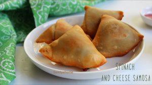 spinach and cheese samosa