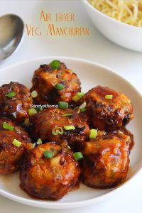 air fryer veg manchurian recipe