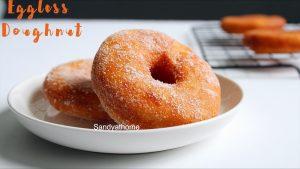 basic eggless donuts