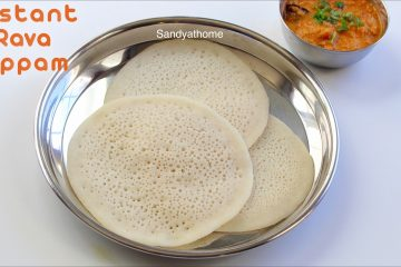 instant rava appam recipe
