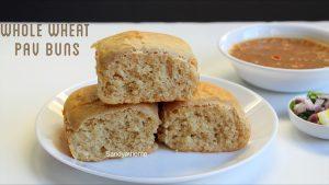 whole wheat pav buns recipe