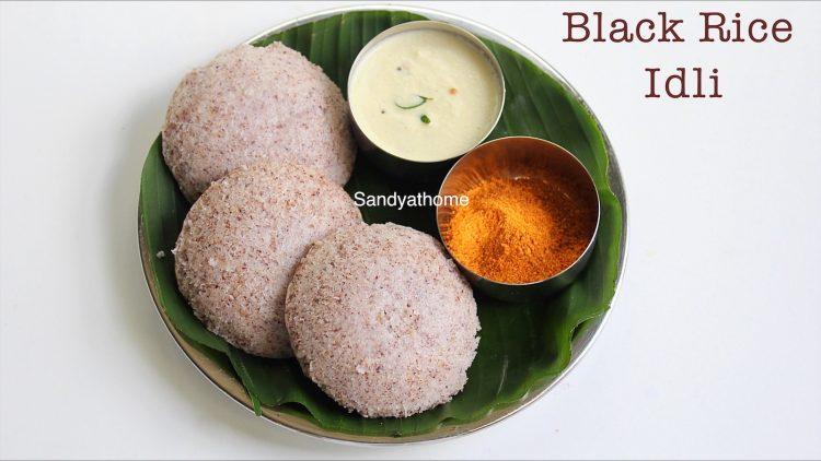 black rice idli recipe