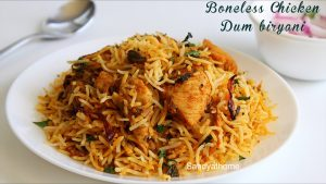 boneless chicken dum biryani recipe