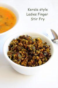 kerala style ladies finger stir fry
