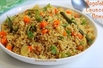 vegetable couscous upma