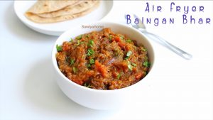 air fryer eggplant bharta