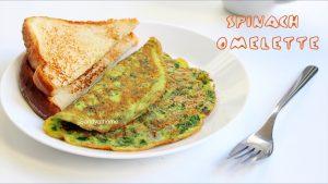 palak omelette