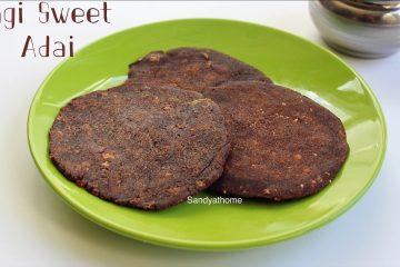 ragi sweet adai