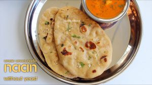 whole wheat garlic naan without yeast