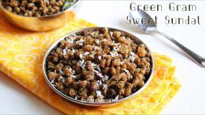 green gram sweet sundal