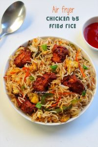 air fryer chicken 65 fried rice recipe