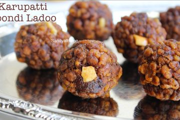 palm jaggery boondi ladoo recipe