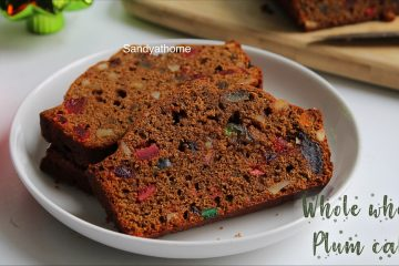 no alcohol plum cake