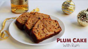 plum cake with rum