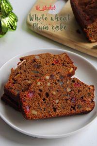 whole wheat plum cake