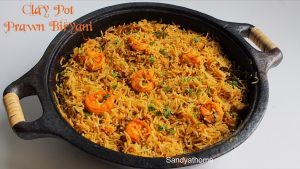 clay pot prawn biryani
