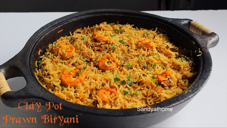 clay pot prawn biryani recipe-1