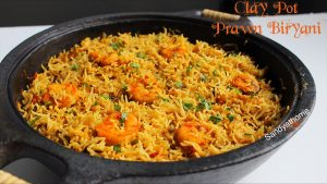 clay pot prawn biryani recipe