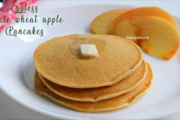 eggless whole wheat pancake recipe