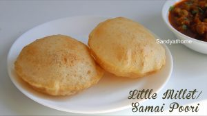 little millet poori recipe