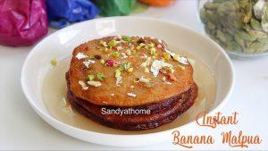 instant banana malpua recipe
