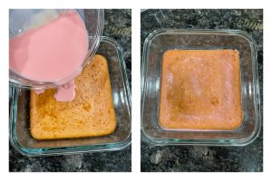 rose tres leches cake