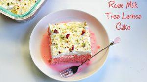 rose milk cake