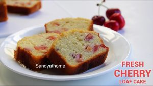 fresh cherry loaf cake
