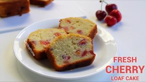 fresh cherry loaf cake recipe