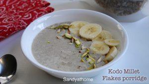 millet flakes porridge