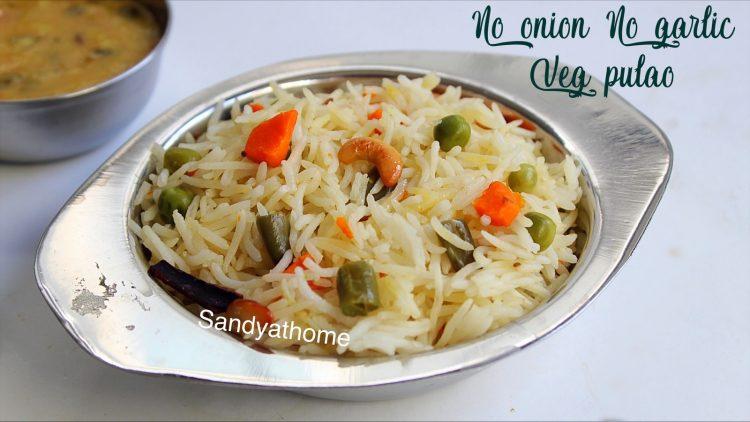 no onion no garlic vegetable pulao